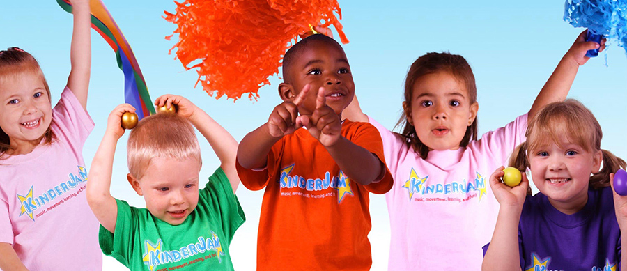 KinderJam® is a fun, exciting, and high-energy Music and Movement program.